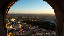 View of El Kef medina, phographed from the Grand Fort. El Kef.