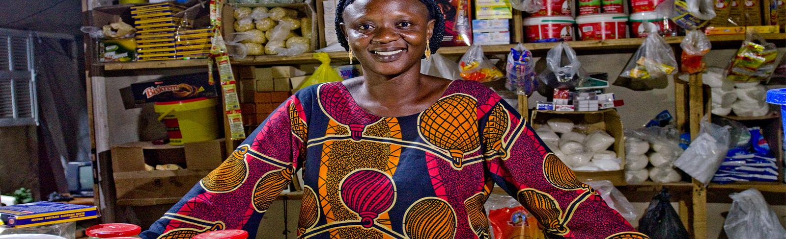 Woman, Africa, Store