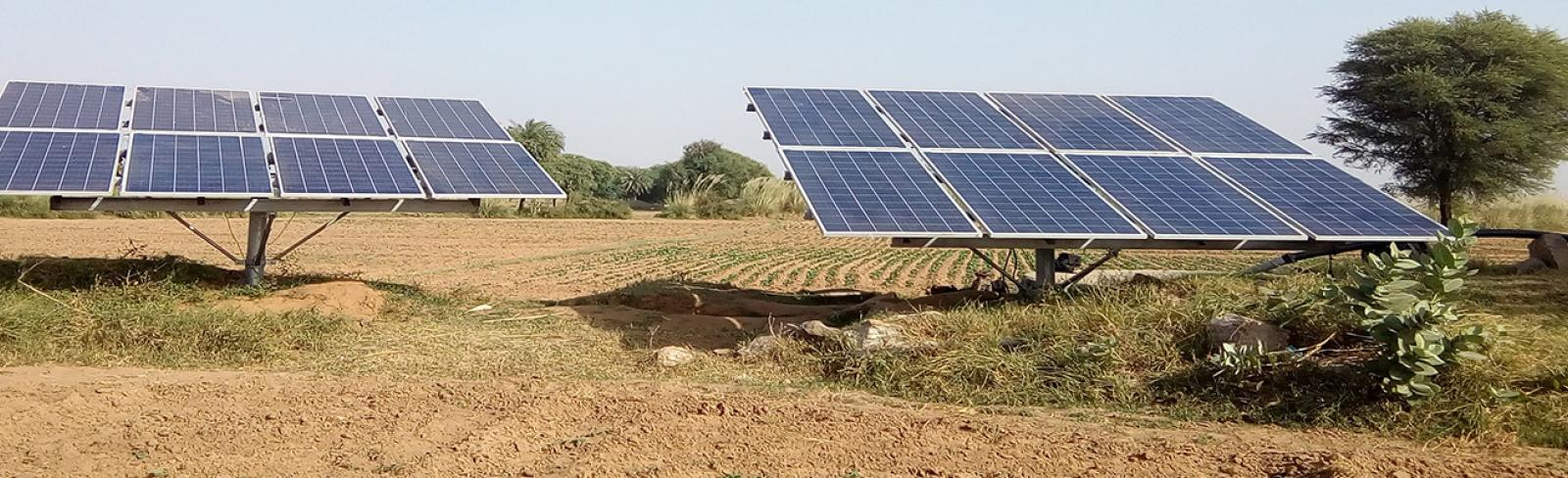 Solar panels remote africa