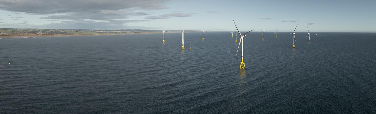 Offsore wind technology, at sea