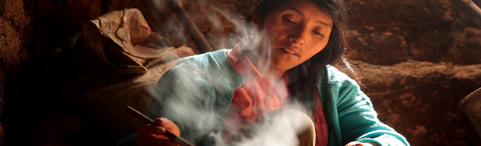 woman cooking, peru