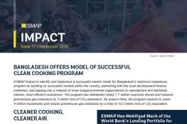 Bangladesh Offers Model of Successful Clean Cooking Program