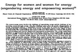 Energy for Women and Women for Energy