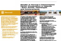 Gender in Norway's Transmission Sector Cooperation in Ugana | Entry Points, Challenges and Achievements