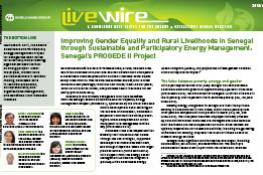 Improving Gender Equality and Rural Livelihoods in Senegal through Sustainable and Participatory Energy Management: Senegal's PROGEDE II Project