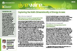 Capturing the Multi-Dimensionality of Energy Access