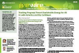 Tracking Progress Toward Sustainable Energy for All in Latin America and the Caribbean