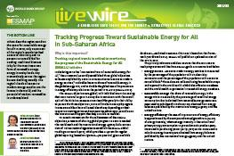 Tracking Progress Toward Sustainable Energy for All in Sub-Saharan Africa
