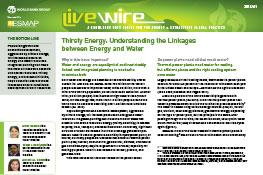 Thirsty Energy : Understanding the Linkages between Energy and Water