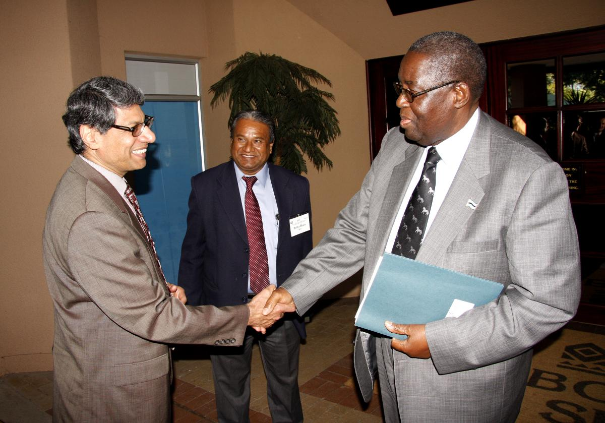 Varadarajan Atur, Lead Energy Specialist, World Bank;  Dr. P. H.K Kedikilwe, Minister of Ministry of Minerals, Energy & Water Resources, Botswana; and  Babu Ram, Chief Power Engineer, AfDB